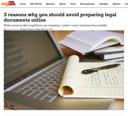 Reasons Why You Should Avoid Preparing Legal Documents Online - Standard legal documents